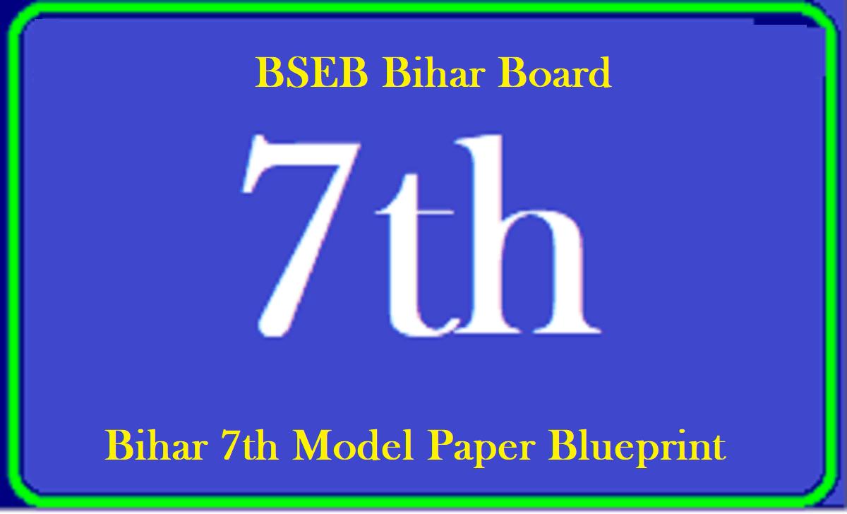 Bihar 7th Model Paper 2021 Blueprint