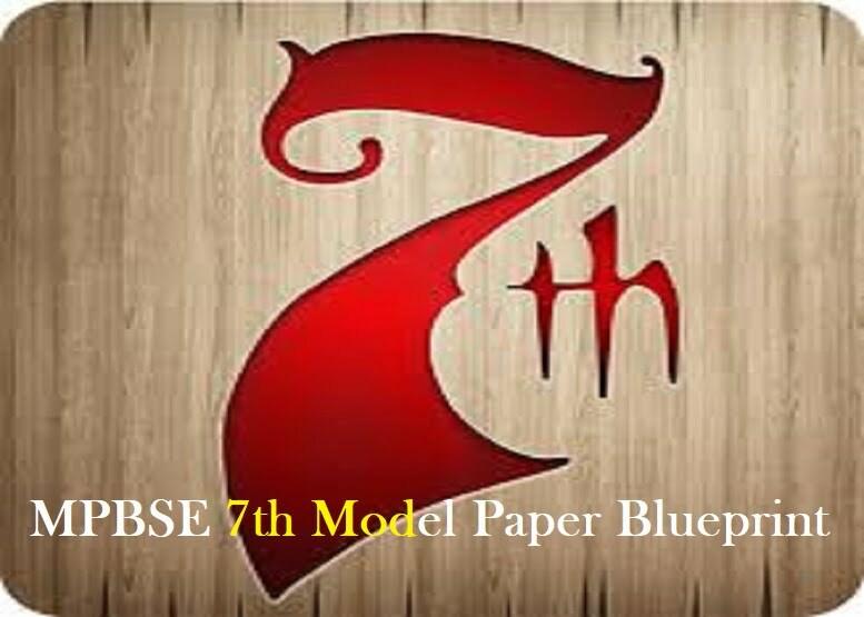 MPBSE 7th Model Paper 2021 Blueprint