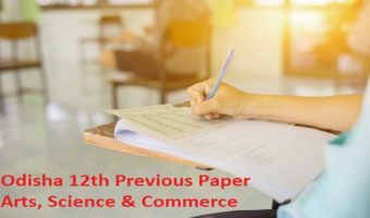 Odisha Plus Two Model Paper 2021 Odisha 12th Previous Paper 2021 Arts, Science & Commerce